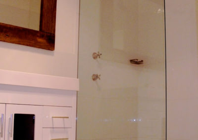 Shower and Vanity Renovated - Including Ken's Signature Recycled Timber on the Mirror